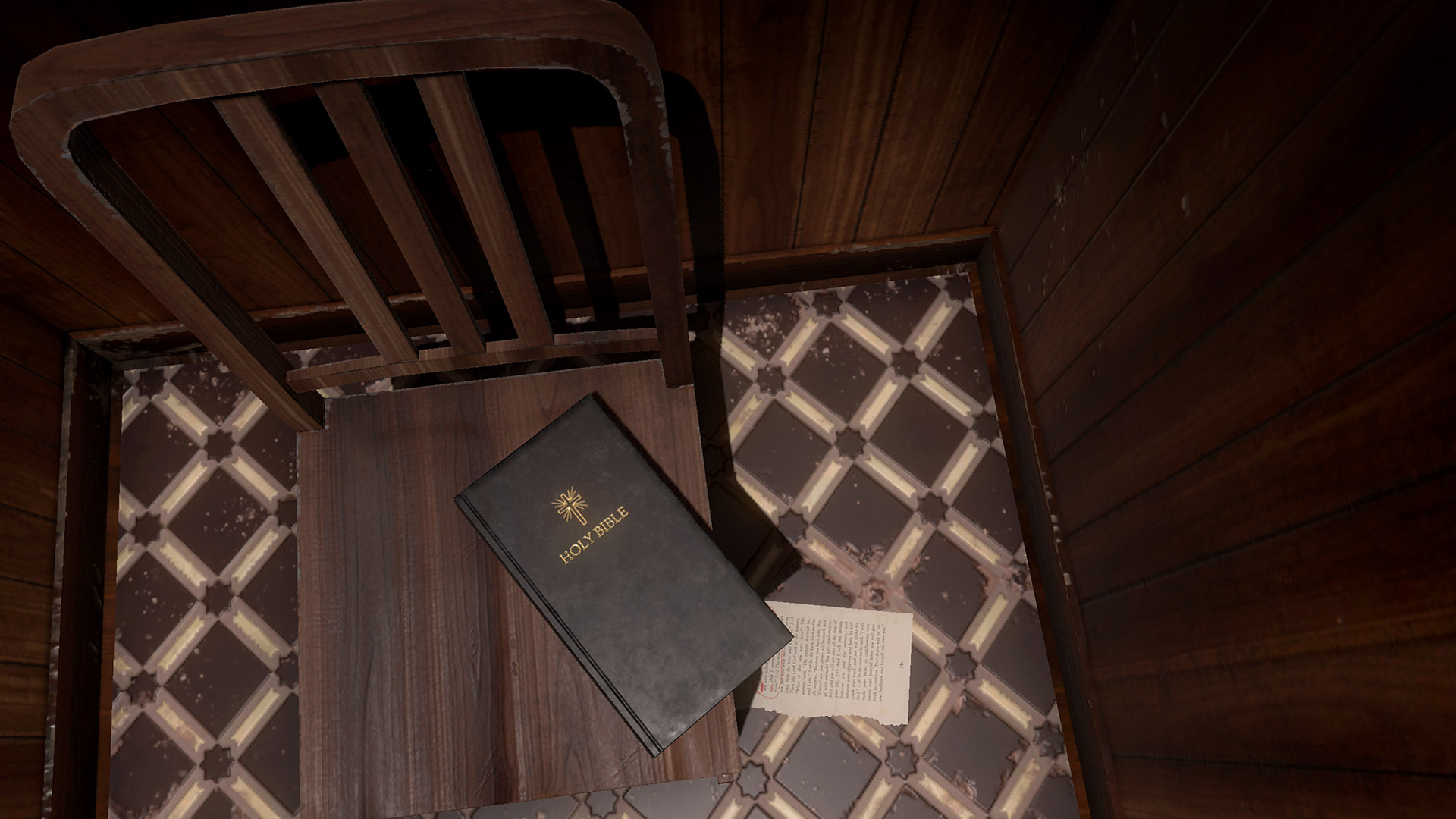 Beautiful A Bible On A Chair In The Greenwater Institute